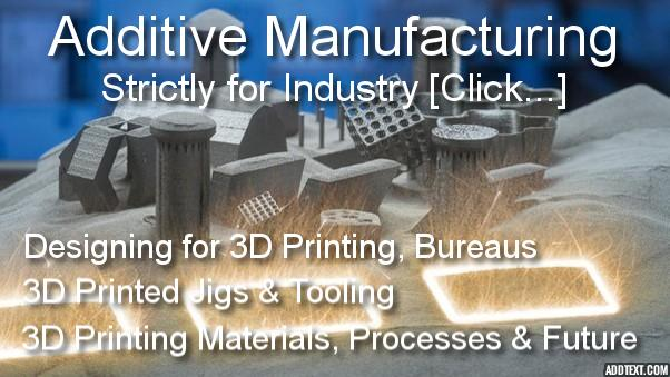 3D Printing Additive Manufacturing: Design for 3D Printing, 3D Printing Jigs, fixtures and tooling, 3D printing processes, 3D printing bureaus, 3D printing materials, 3D printing future trends