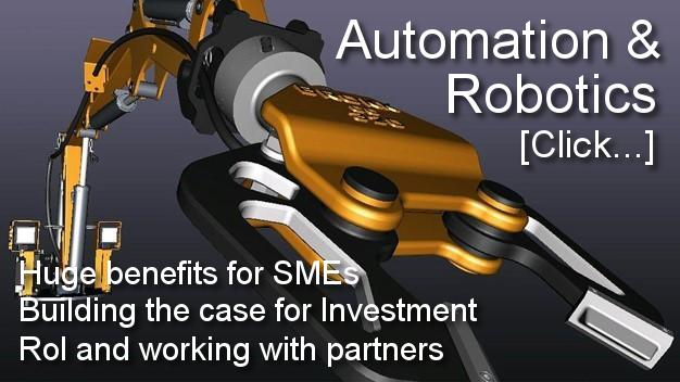 Automation and robotics work cell. Building a case for Investment, for Small Manufacturers. Robotics. Pick and Place Automation: For repeatability, quality and precision. Manual handling robot.